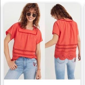 Tops - Made well Angelica Coral Lace Top